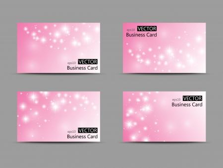 backdrop: Set of vector business cards Illustration