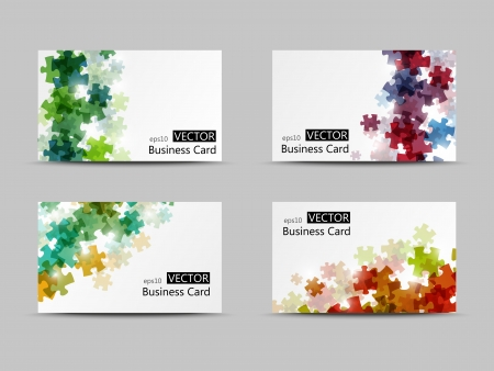 Set of vector business cards Vector