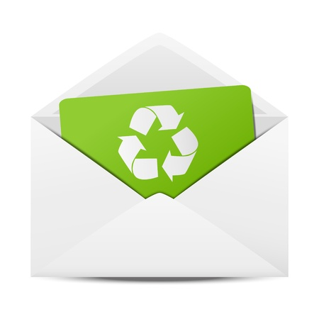 Ecology envelope with symbol of recycling Stock Vector - 17565985