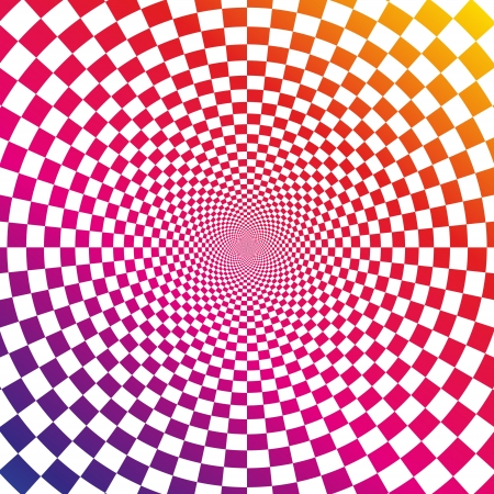 illustration of optical illusion background Illustration