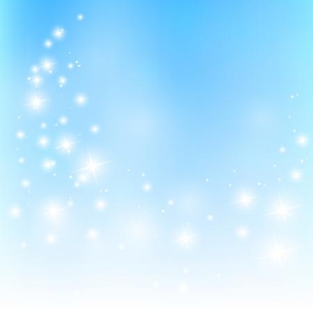 Starry fondo azul
