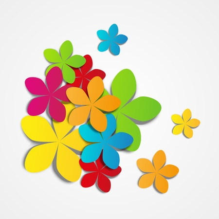 illustration of color paper flowers Vector