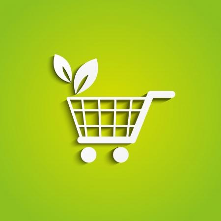 Shopping cart icon - organic concept photo