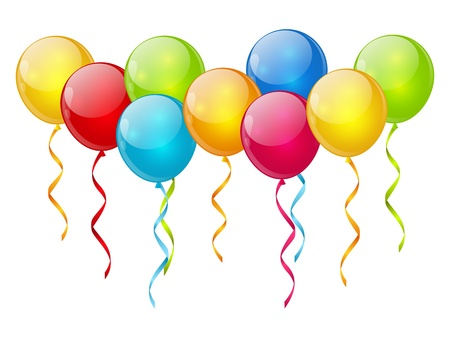 balloon background: Birthday  background with color balloons