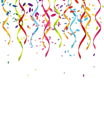party streamers: Party background with place for text Stock Photo