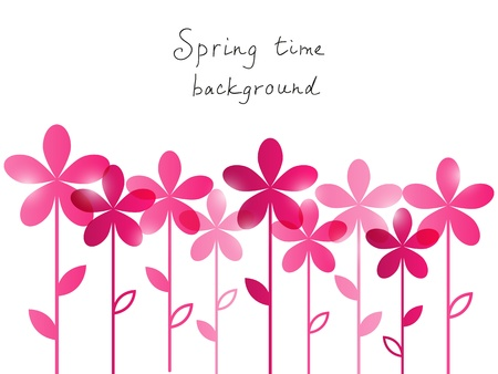 abstract flowers: Springtime background with place for text