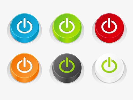 Set of power buttons Stock Photo - 18178110
