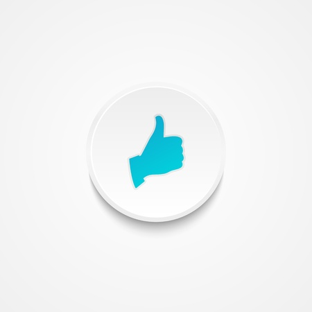 White button with thumb up symbol Stock Photo - 18178137
