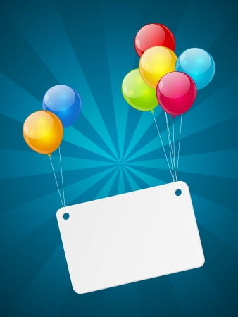Banner with color glossy balloons Stock Photo - 18268999