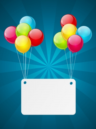Banner with color glossy balloons Stock Photo - 18269010
