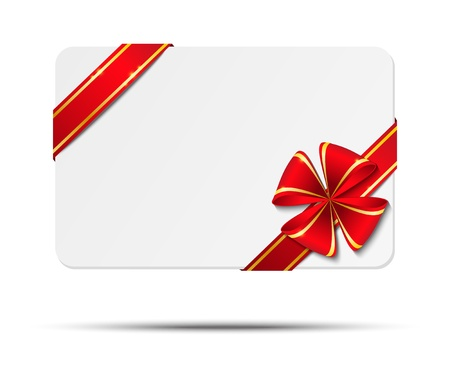 Gift card with red ribbon photo
