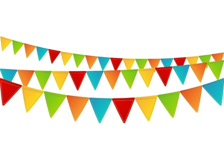 bunting: Party background with place for text Stock Photo