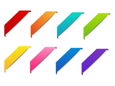 corner design: Set of ribbons for your design