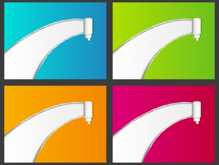 Set of color torn paper backgrounds Vector