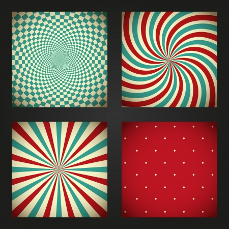 Set of retro abstract backgrounds  Stock Photo