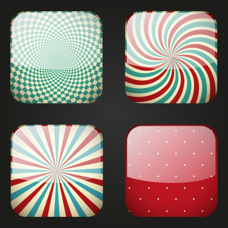 Set of retro apps icons Stock Photo - 18561333