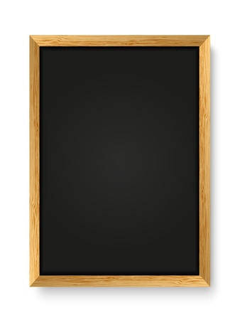 Menu chalkboard on white background
