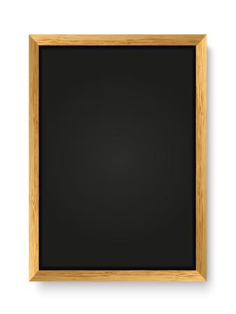 Menu tableau noir sur fond blanc
