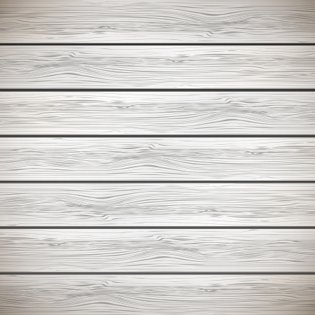 White wooden background - illustration