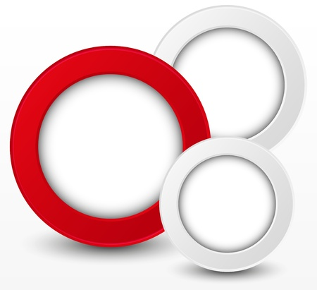 red swirl: Abstract round elements with place for text Stock Photo