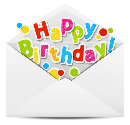 mail delivery: Happy Birthday message in a mail