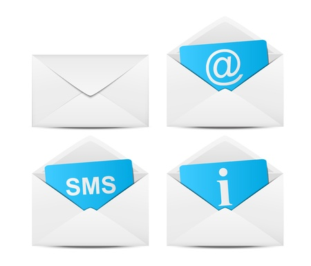 Set of communication envelope icons photo