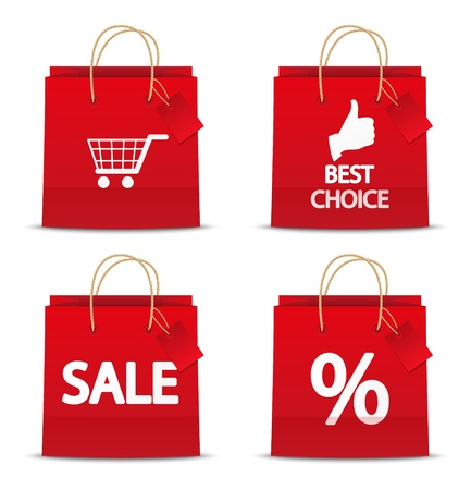 Set of shopping bag icons photo