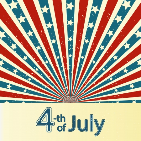 fourth of july: Independence Day card con posto per il testo