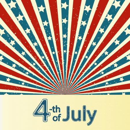 juli: Independence Day kaart met plaats voor tekst