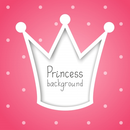 Princess background with place for text Stock Photo