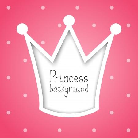 prinzessin: Princess Hintergrund mit Platz für Text