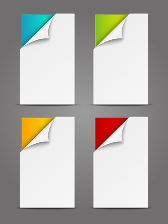 Set of paper vertical banners Stock Photo - 19399058
