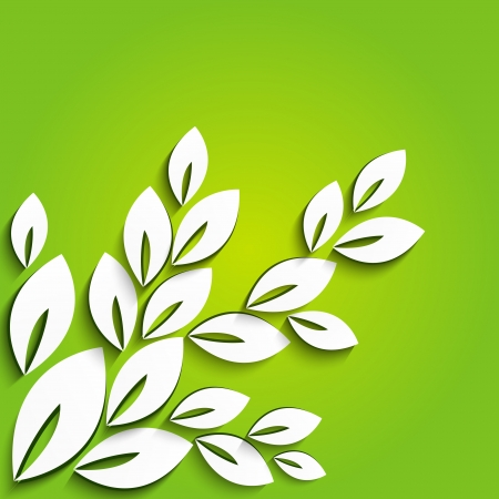 Summer background with paper leaves photo