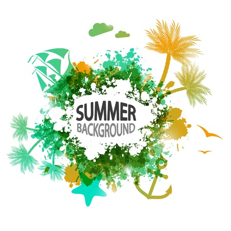 Summer vacation background with place for text Stock Photo - 19399081