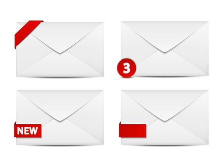 e new: Set of four mail icons