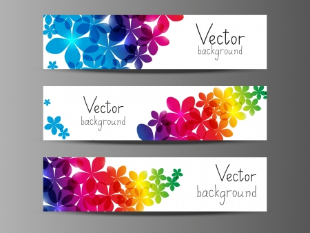 Floral horizontal banners with place for text  photo