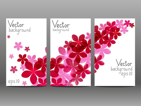 Floral vertical banners for Your design photo