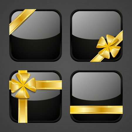 Set of luxury gift apps icons photo