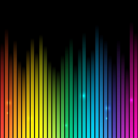 equalizer: Rainbow background with place for text