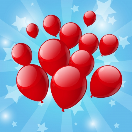 red balloon: Red balloon background
