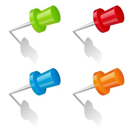 paper fastener: Set of color pins