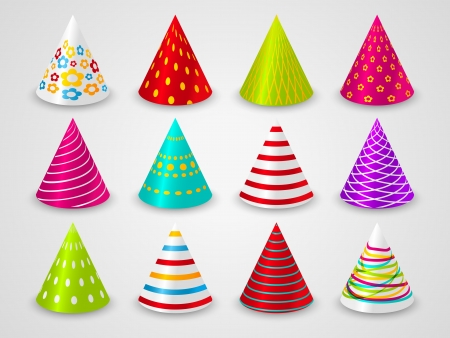 party hats: Set of party paper hats