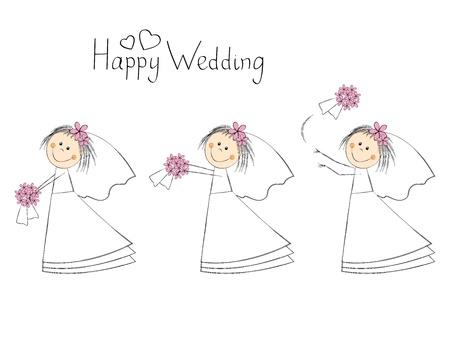bride bouquet: The bride throws the bouquet