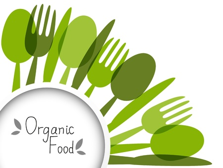 healthy eating: Organic food background with place for text