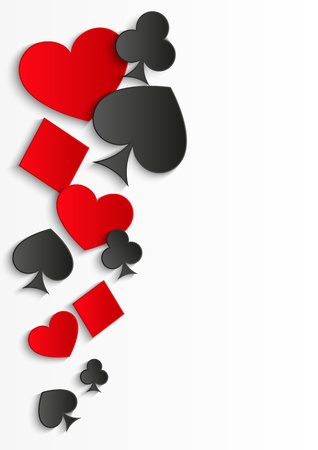 poker card: Card symbols background with place for text Stock Photo