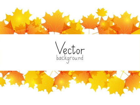 Autumn background with place for text photo