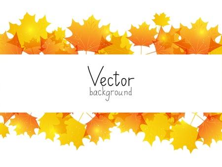 Fond d'automne avec la place pour le texte