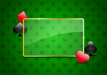 Casino background with cards pattern photo