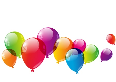 Color balloons background with place for text Stock Photo - 21424163