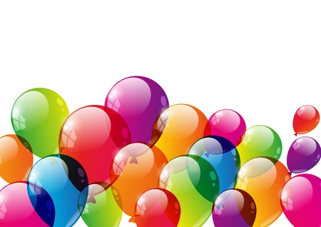 bunch up: Color balloons background with place for text